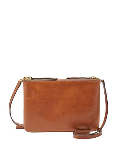Fossil Devon Crossbody Bag-BROWN-One Size