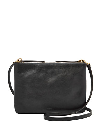 Fossil Devon Crossbody Bag-BLACK-One Size