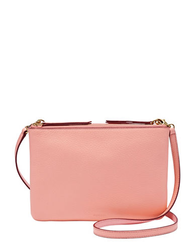 Fossil Devon Crossbody Bag-PASTEL PINK-One Size