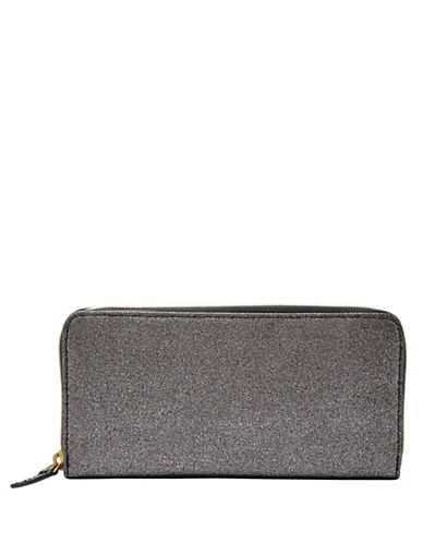 Fossil Jayda Zip Clutch-GUNMETAL-One Size