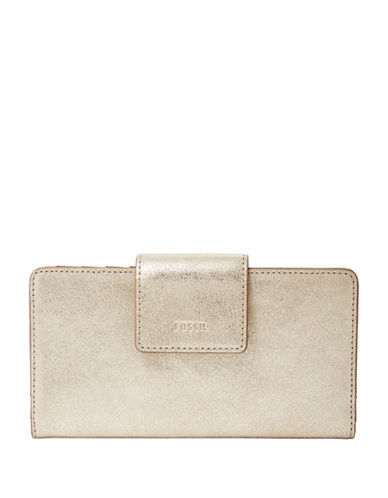 Fossil Emma Tab Clutch-GOLD-One Size