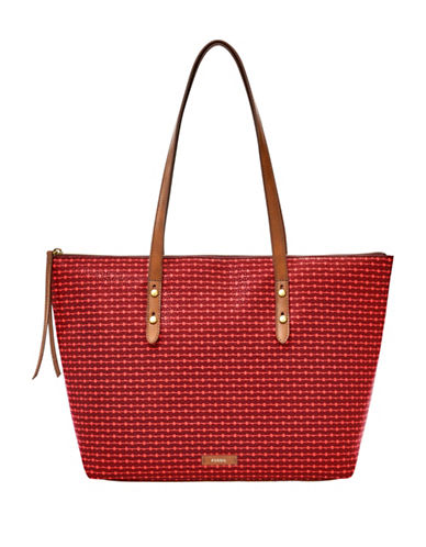 Fossil Jayda Tote-CABERNET-One Size