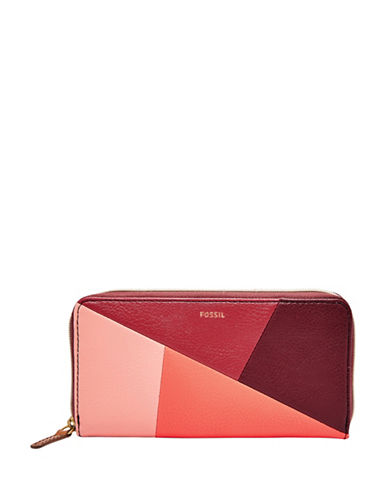 Fossil Colourblock Wallet-RED MULTI-One Size