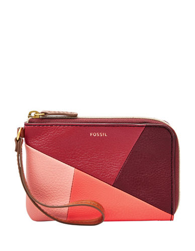 Fossil Jayda Zip Clutch-RED-One Size
