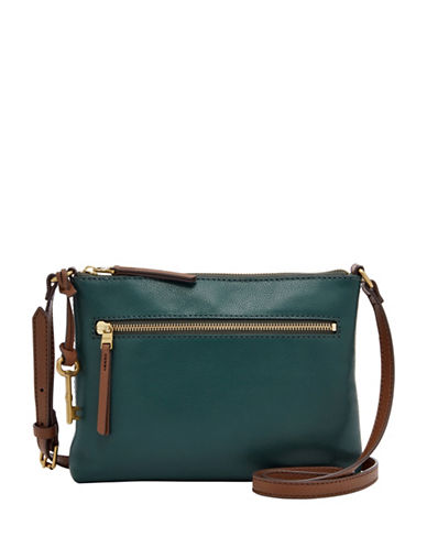 Fossil Fiona Small Crossbody Bag-GREEN-One Size