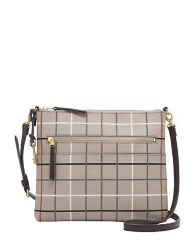 Fossil Fiona Large Crossbody Bag-GREY-One Size