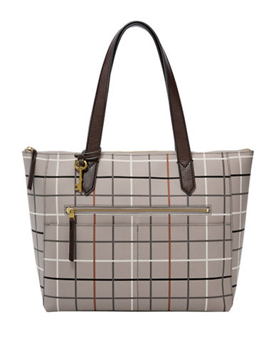 Fossil Fiona Tote-GREY-One Size