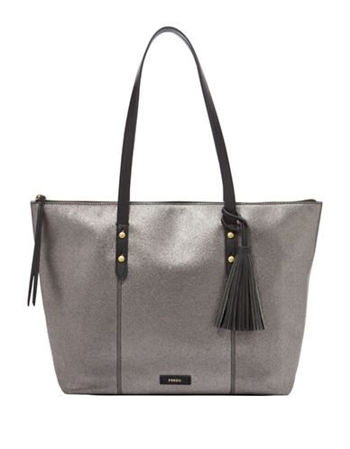 Fossil Jayda Tote-GUNMETAL-One Size