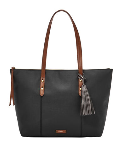 Fossil Jayda Tote-BLACK-One Size