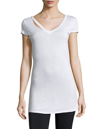 Sam Edelman Ripped Short-Sleeve Tee-WHITE-X-Small