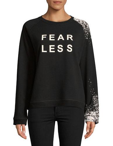 Sam Edelman Graphic Paint Splash Sweatshirt-BLACK-X-Large