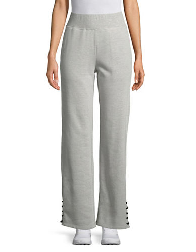 Sam Edelman Lace-Up Cuff Jogger Pants-GREY-X-Large