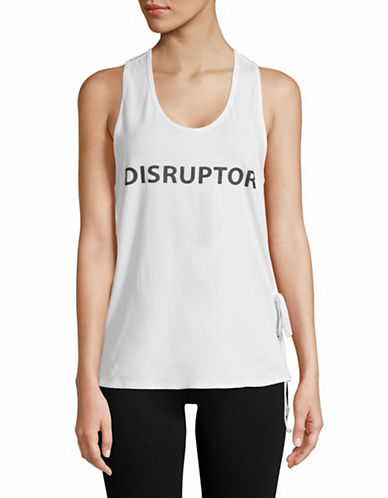 Sam Edelman Side Tie Graphic Tank Top-WHITE-Small