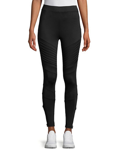 Sam Edelman Zip Cuff Moto Leggings-BLACK-X-Large