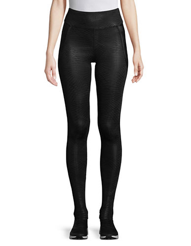 Sam Edelman Tone On Tone Printed Leggings-BLACK-Medium 89598027_BLACK_Medium