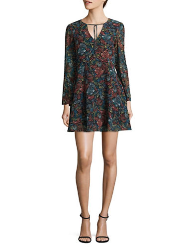 Sam Edelman Floral Bell-Sleeve Dress-MULTI-12