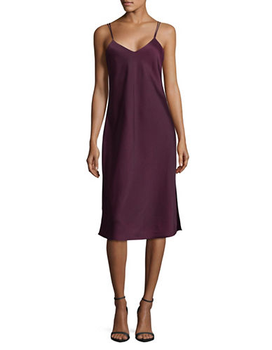 Sam Edelman V-Neck Camisole Slip Dress-PORT-0