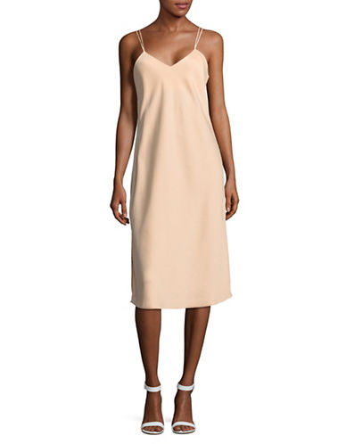 Sam Edelman V-Neck Camisole Slip Dress-BEIGE-4