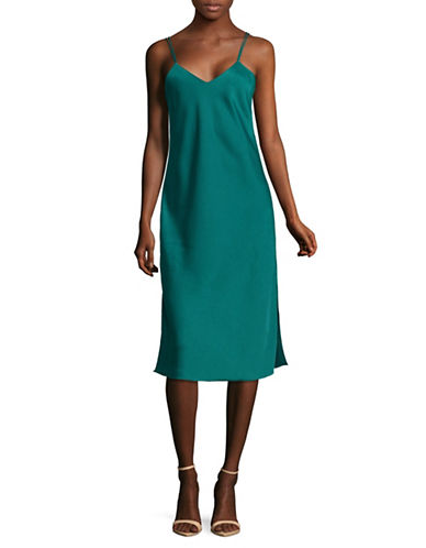 Sam Edelman V-Neck Camisole Slip Dress-BLUE-4