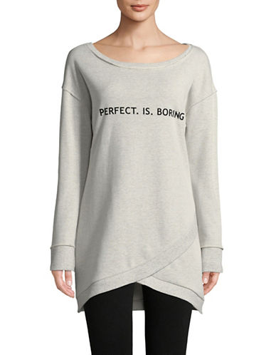 Sam Edelman Graphic Tunic Sweatshirt-GREY-Small