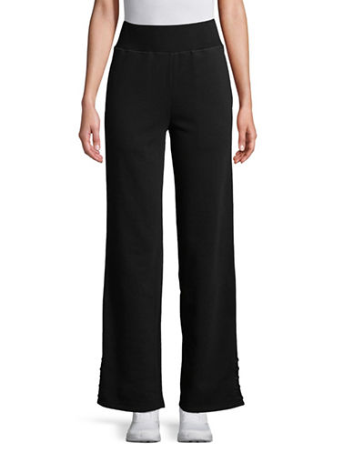 Sam Edelman Lace-Up Cuff Jogger Pants-BLACK-Medium