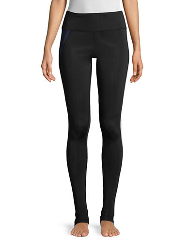 Sam Edelman Retro Colour Block Leggings-BLACK-Large
