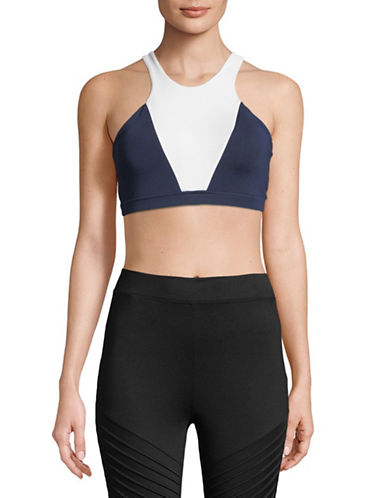 Sam Edelman Colourblocked Sports Bra-BLUE-X-Large