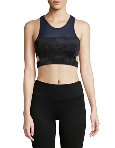Sam Edelman Check Me Out Sports Bra-NAVY-Medium