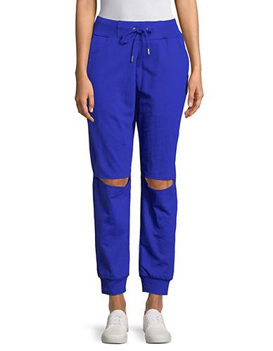 Sam Edelman Knee Slit Jogger Pants-BLUE-Large 89734591_BLUE_Large