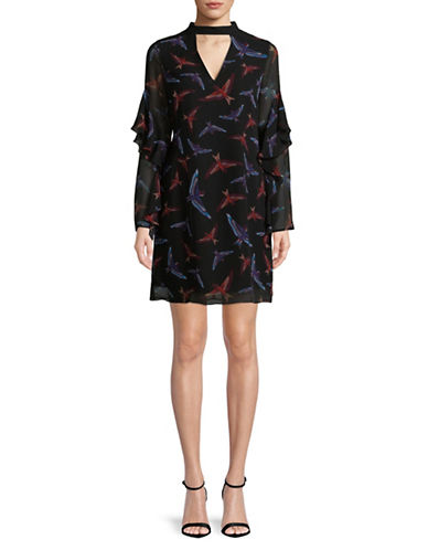 Sam Edelman Bird Print Choker Dress-BIRD-12