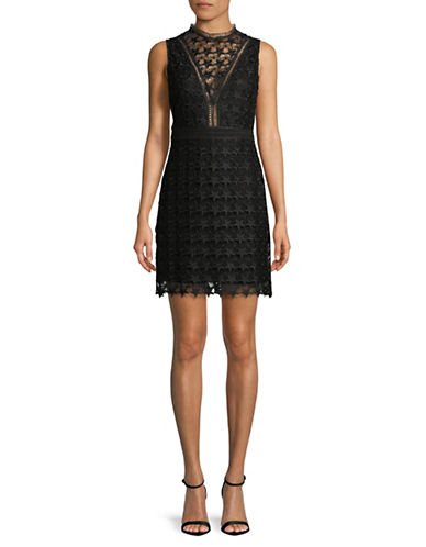 Sam Edelman Star Lace Dress-BLACK-12