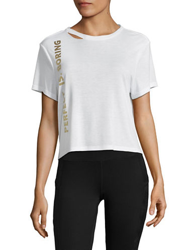 Sam Edelman Perfect Is Boring Tee-WHITE-Medium