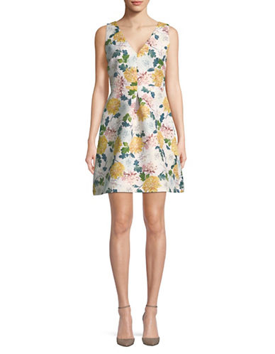 Sam Edelman Floral Fit-and-Flare Dress-PINK MULTI-4