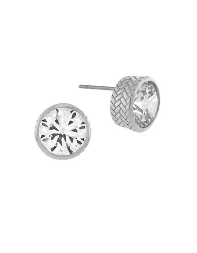 Cole Haan Round CZ Stud Earrings-SILVER-One Size