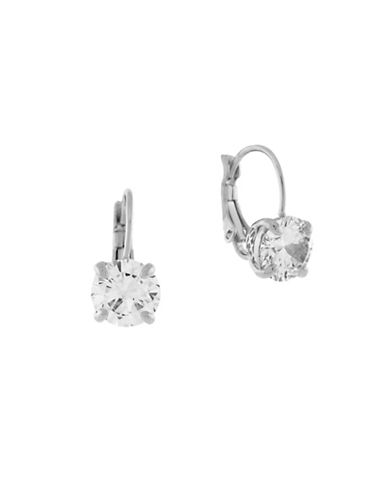Cole Haan Round Cubic Zirconia Drop Earrings-SILVER-One Size