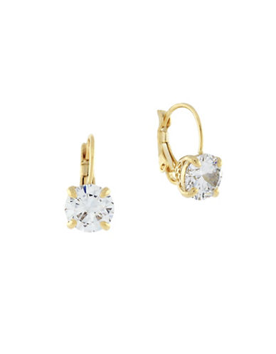 Cole Haan Round Cubic Zirconia Drop Earrings-GOLD-One Size