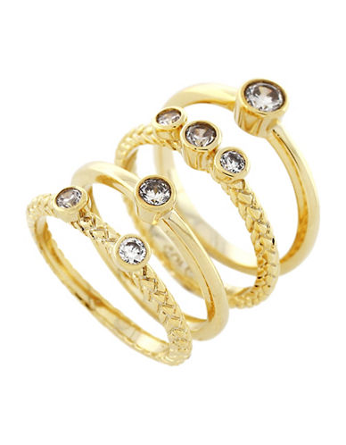 Cole Haan Four-Ring Stack Set-GOLD-7
