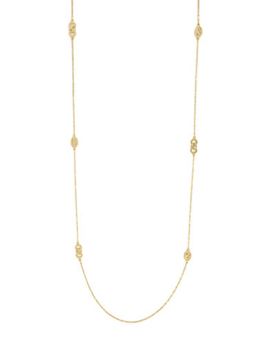Cole Haan Goldtone Station Necklace-GOLD-One Size