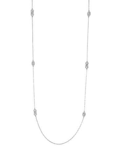 Cole Haan Silvertone Station Necklace-SILVER-One Size