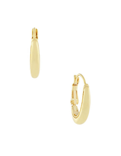Cole Haan Polished Oval Hugger Earrings-GOLD-One Size