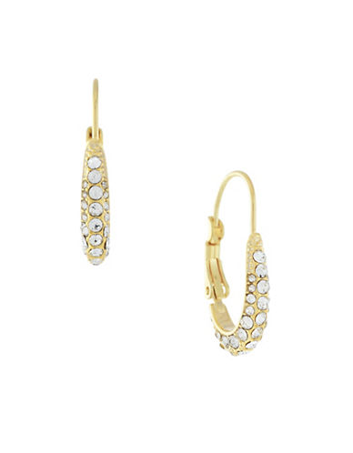 Cole Haan Pave Oval Hoop Earrings-GOLD-One Size