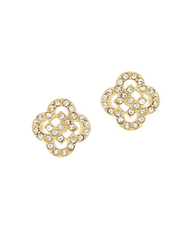 Cole Haan Cut-Out Pave Stud Earrings-GOLD-One Size