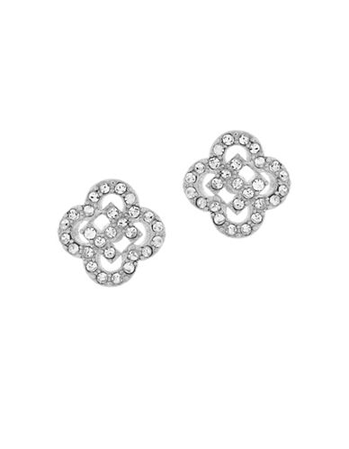 Cole Haan Cut-Out Pave Stud Earrings-SILVER-One Size