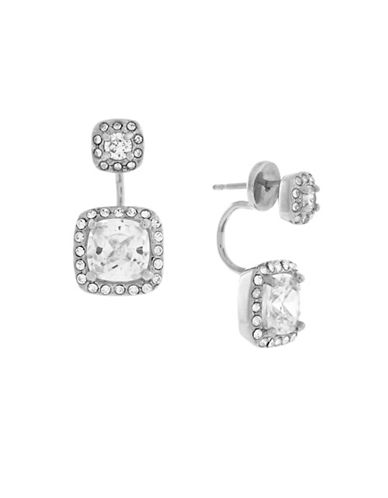 Cole Haan Cushion Cubic Zirconia Jacket Earrings-SILVER-One Size