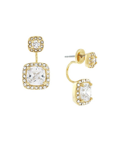 Cole Haan Cushion Cubic Zirconia Jacket Earrings-GOLD-One Size