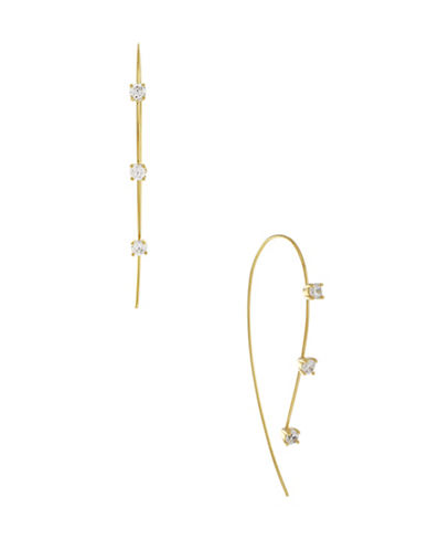 Cole Haan Stone Threader Earrings-GOLD-One Size