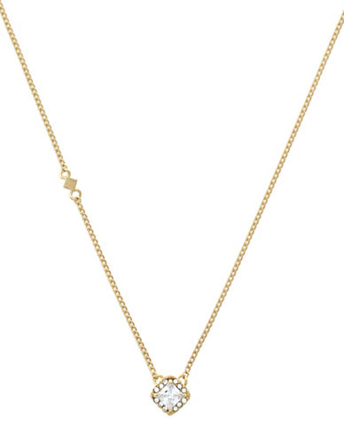 Cole Haan Square Halo Pendant Necklace-GOLD-One Size