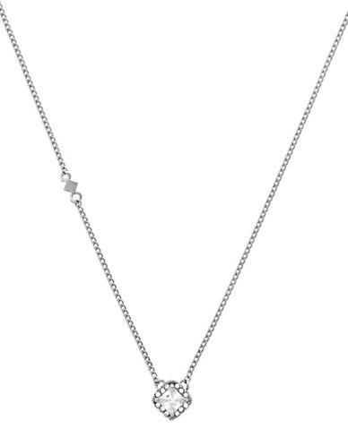 Cole Haan Square Halo Pendant Necklace-SILVER-One Size