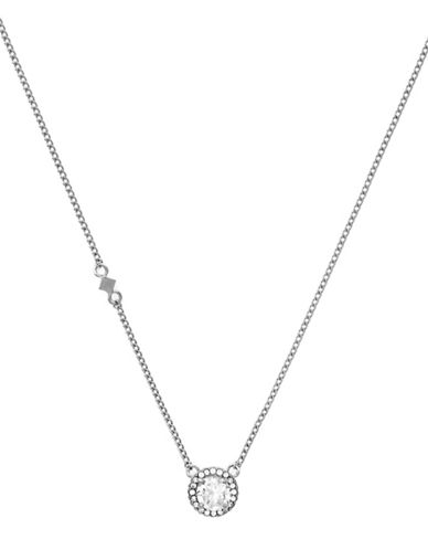 Cole Haan Round  Halo Pendant Necklace-SILVER-One Size
