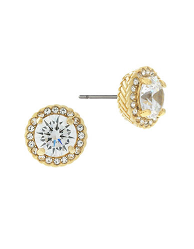 Cole Haan Round Halo Stud Earrings-GOLD-One Size